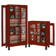 Storage Cabinet High Visibility Mobile 1 Adj 2 Fixed Shlvs 36Wx18Dx48H Specify Color