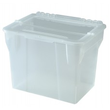 File Box 20Qt Split Lid Clear