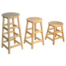 Stool 30 Inch Height Solid Hardwood