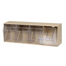 Clear Tip Out Bin 4 Compartments - Specify Color