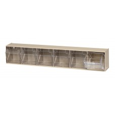 Clear Tip Out Bin 6 Compartments - Specify Color