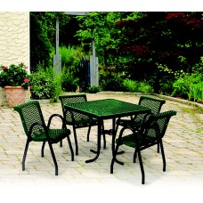 Round Portable Food Court Table - 36 Diameter X 42 H Inch - Perforated Pattern - Specify Color