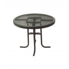 Round Portable Food Court Table - 36 Diameter X 42 H Inch - Diamond Pattern - Specify Color