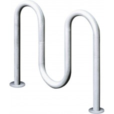 Contemporary Loop Bike Rack - 3 Loop 39 Inches Wide - 5 Bikes - Specify Mount