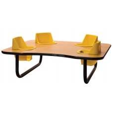 Toddler Table 4 Seat - Select Seat Color - Select Table Top Color - Select Height