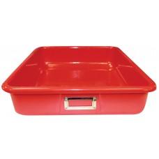 Storage Tote 14 L X 12 W X 4 D Solid Red