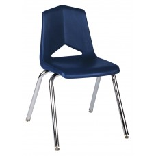 Chair - Royal 1100 Four Leg - Soft Plastic Shell 10 - Chrome Frame - Specify Shell Color - Specify Glide