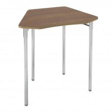 Cs Contemporary Collaboration Desk - 21X16X33 Hexagon Top W/Black Lockedge