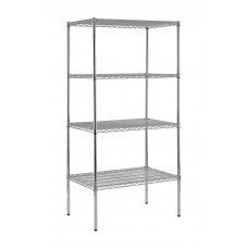 Wire Shelving 36''W X 18''D X 74''H Heavy Duty Chrome