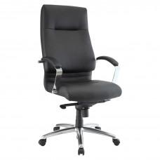Task Chair Executive High Back Chrome Base Modern Style Black