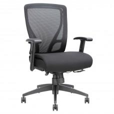 Task Chair Mid-Back Mesh Back Fabric Seat Black