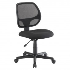 Task Chair Multi Mesh Back No Arms Fabric Seat Black