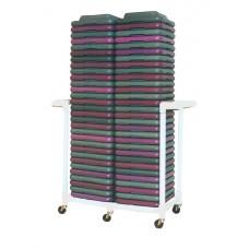 Health Club Step Riser Cart -  Holds 60 Step Risers