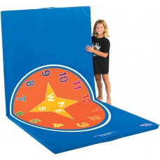 Floor Mat 4 Ft X 8 Ft  Learnarama - Compass And Clock