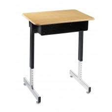 Desk - Royal 1600 Open Front - 18 X 24 Hard Plastic Top - Black Powedercoat Frame