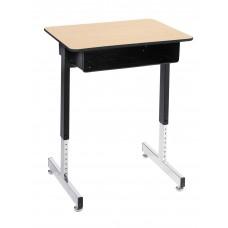 Royal 1600 Open Front Desk- 18 X 24 Laminate Top W/Black T-Mold Edge