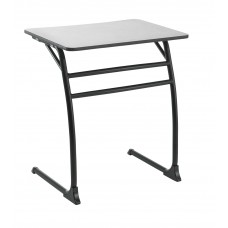 Desk - Cs Contemporary Cantilever - 20X26 Hard Plastic Top - 29.5 Fixed Height