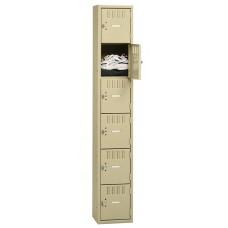 Locker Box 6-Tier 1 Wide Sand Tnnbs6121812Asd