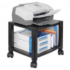 Stand Mobile Printer 2 Shelf Black