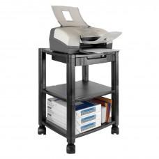 Stand Mobile Printer 3 Shelf Black