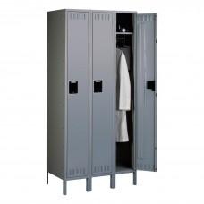 Locker 1 Tier 3 Wide Legs 36X18X78 Md Gry Tnnsts1218723Mg