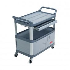 Cart 20''X40'' 2 Shelf W/Drawer Handling - Rubbermaid