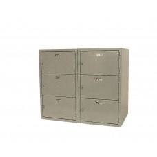 Base 6 Horizontal Locker 31H X 36W X 21D - Specify Color