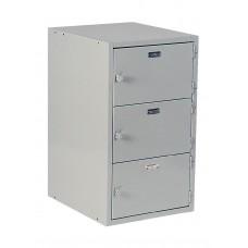 Base 3 Horizontal Lockers 31H X 18W X 21D - Specify Color