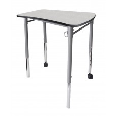 Cs Neomove Collaboration Desk With Casters - 25X26X27 Laminate Top W/Black Lockedge