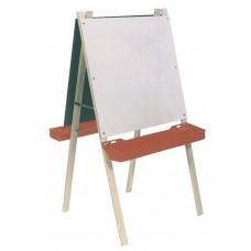 Easel Whiteboard And Chalkboard W/ Leg Brace