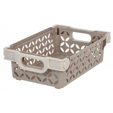 Storage Small Decorative Basket With Handles Tan