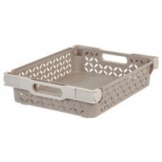 Storage Medium Decorative Basket With Handles Tan