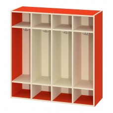 Locker Unit Early Learning - 8 Student Double Hooks 48W X 16D X 48H - Specify Color