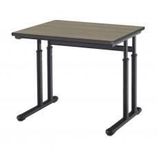 Cs Contemporary Cantilever Dual Post Pedestal Leg Desk - 24X30 Top W/ Black Lockedge