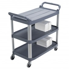 Cart Handling Xtra Gy Rubbermaid Commercial Products Multipurpose Multi Purpose Carts 3-Shelf Aluminum Frame