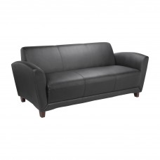 Sofa Recptn Bnded Blk Lorell Furniture Tables Reception Area