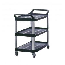 Mobile Utility Cart 300 Lb. Cap 40 3/5''X20''X37 4/5'' Black