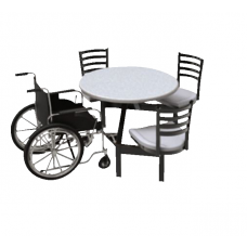 Outdoor Seating - 3 Seats-1 Wc - Anchor - Specify Fiberglass Color - Specify Frame Color
