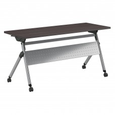 Bush Business Furniture 60W x 24D Folding Training Table with Wheels