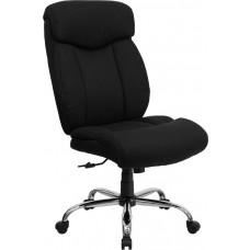 HERCULES Series Big & Tall 400 lb. Rated Black Fabric Executive Swivel Chair [GO-1235-BK-FAB-GG]