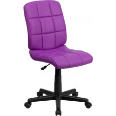Mid-Back Purple Quilted Vinyl Swivel Task Chair [GO-1691-1-PUR-GG]