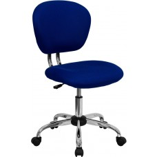 Mid-Back Blue Mesh Swivel Task Chair with Chrome Base [H-2376-F-BLUE-GG]