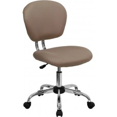 Mid-Back Coffee Brown Mesh Swivel Task Chair with Chrome Base [H-2376-F-COF-GG]
