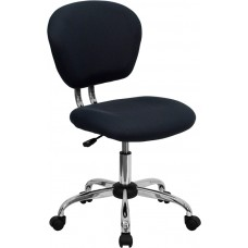 Mid-Back Gray Mesh Swivel Task Chair with Chrome Base [H-2376-F-GY-GG]