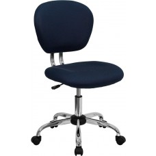 Mid-Back Navy Mesh Swivel Task Chair with Chrome Base [H-2376-F-NAVY-GG]