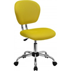 Mid-Back Yellow Mesh Swivel Task Chair with Chrome Base [H-2376-F-YEL-GG]