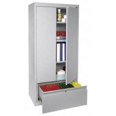 Sandusky® 2 Adjustable Shelves Storage Cabinet with File Drawer, White