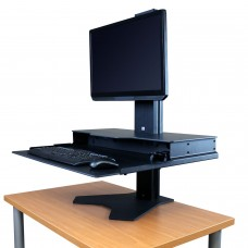 Hover Helium Sit Stand Desk Converter 24x28 - Single Monitor