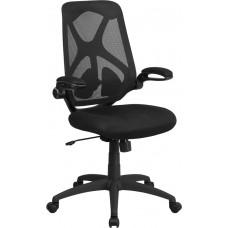 High Back Black Mesh Executive Swivel Chair with Adjustable Lumbar
