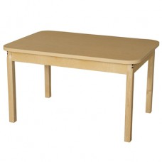 "30"" x 44"" Rectangle High Pressure Laminate Table with Hardwood Legs- 22"""